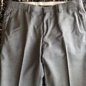 Hugo Boss Grey Mini Check Trousers - 34R